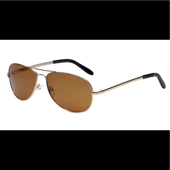 "c064b6303cb ""Desert"" Gold Wire Frame Aviator Sunglasses"
